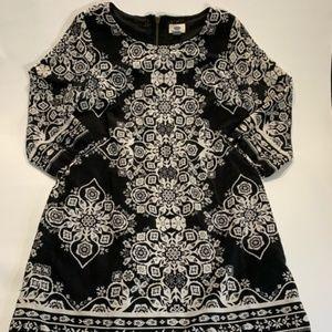 Old Navy | Black & White Dress 3/4 Sleeve Medium